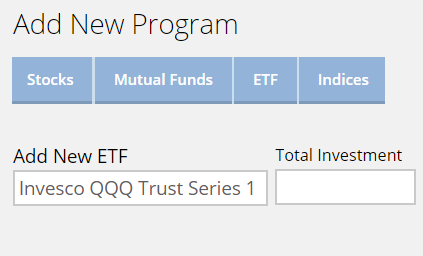 Add etf to portfolio