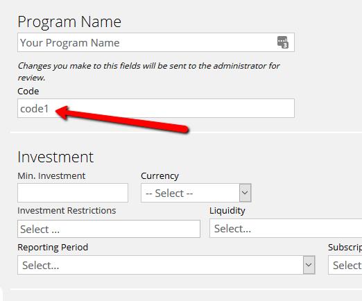 Fund codes image
