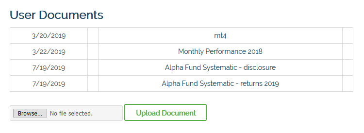 Fund portal - User documents - Image